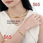 Night Quantity Stainless steel ,women necklace set