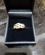 14 K Gold and Diamond Rkn..